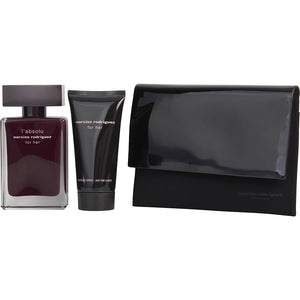 Narciso Rodriguez L'absolu For Her By Narciso Rodriguez Eau De Parfum Spray 1.7 Oz & Body Lotion 1.7 Oz & Pouch