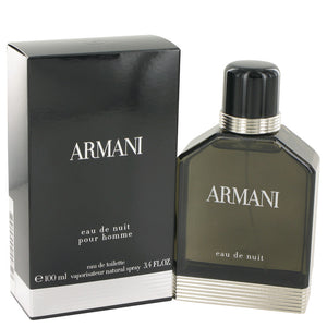 Armani Eau De Nuit by Giorgio Armani Eau De Toilette Spray 3.4 oz for Men