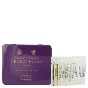 Artemisia by Penhaligon's Gift Set -- Scent library includes the best of Penhaligon's. Artemisia, Iris Prima, Vaara, Ellenisia, Orange Blossom, Quercus, Sartorial, Blenheim Bouquet, Opus 1870, and Endymion for Women