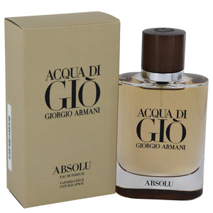 Acqua Di Gio Absolu by Giorgio Armani Eau De Parfum Spray 2.5 oz for Men
