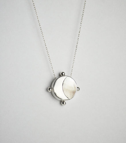 The Crescent Moon Mother of Pearl Necklace