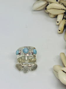 Larimar Triple Ring
