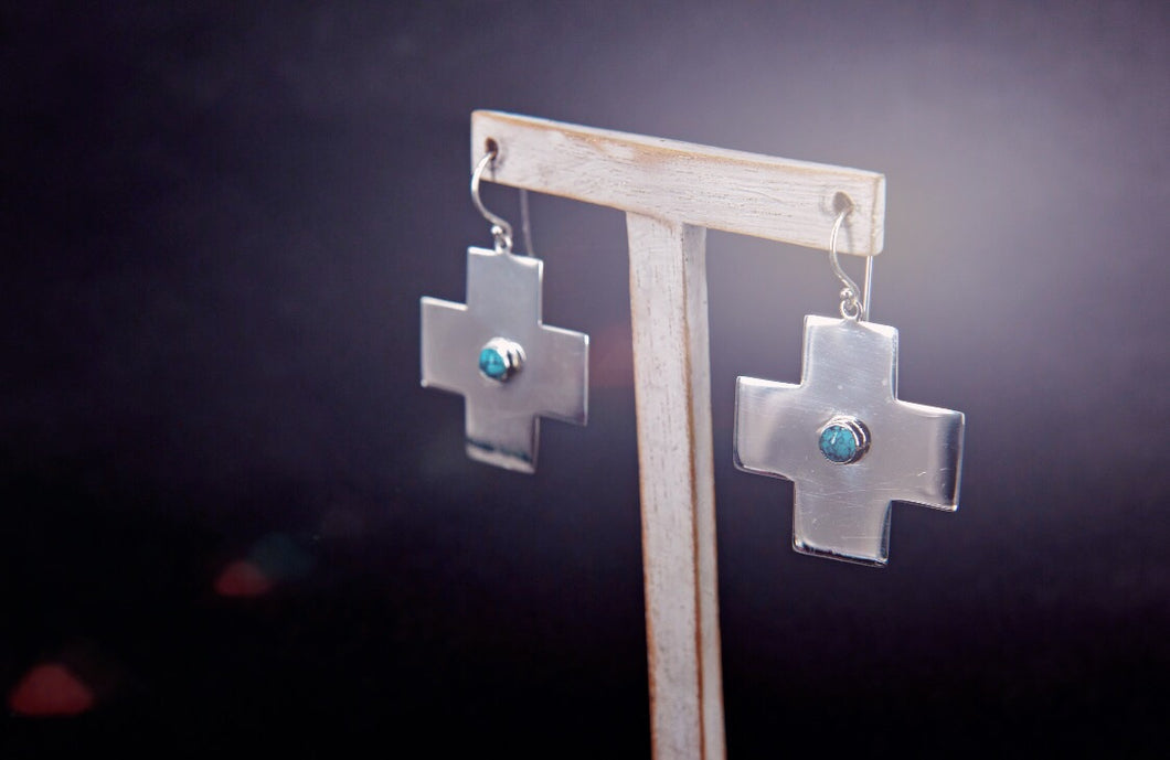 The Turquoise Cross earrings