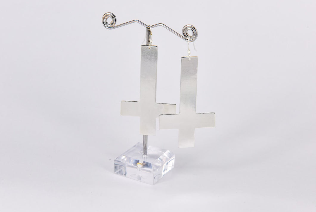 The Godless Earrings (silver)
