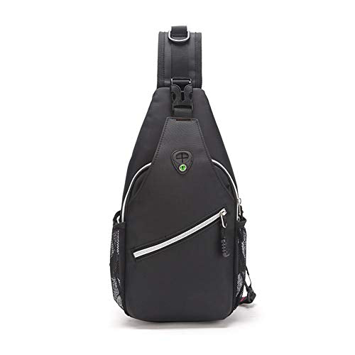 3327f997e680 Men s Polyester Sling Bag With Headphone Hole
