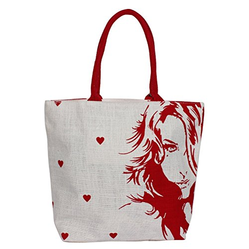 Steela Jute bag, Tote Bag, Market Bag, Beach Bag, Printed Jute bag,Grocery Bags, Trendy Bag, Shopping Bag, Eco Friendly Bag (SJT03)