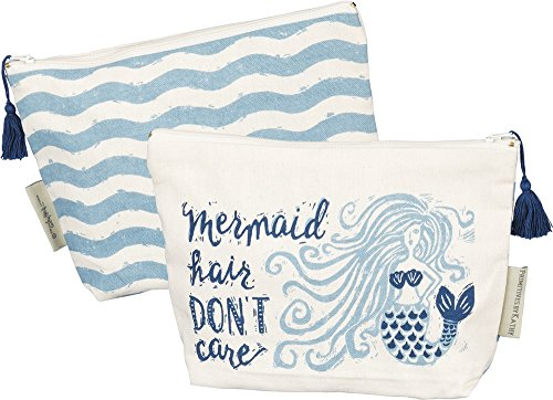 Primitives By Kathy Mermaid Hair Dont Care Zipper Pouch Womens Accessories