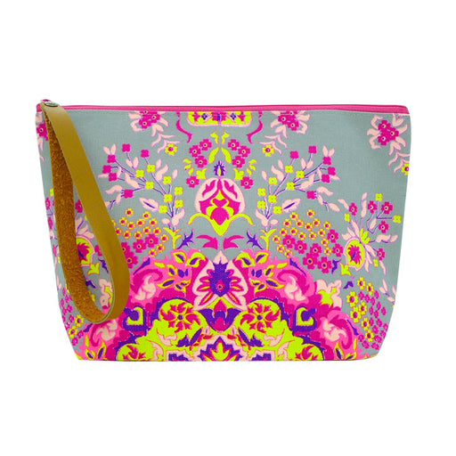 Taruron Clutch Bag, Cosmetic Bag Printed on Canvas Top Zipper