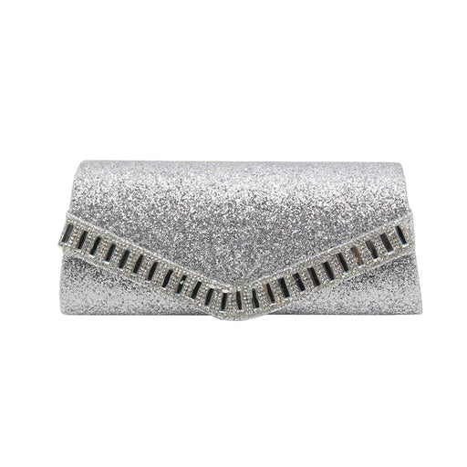 5a6e3c5b2f Aimer Women Trapezoid Glitter Envelop Clutch Purse Evening Bag Acrylic  Embellished Flap Handbag