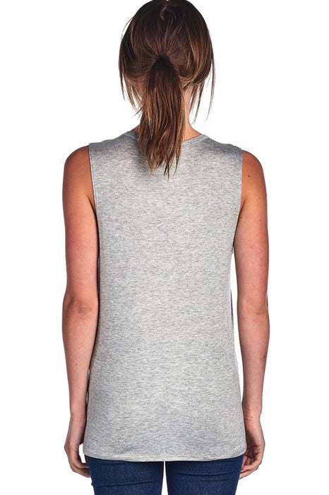Mountains Please W Forest Design Muscle Tank Top