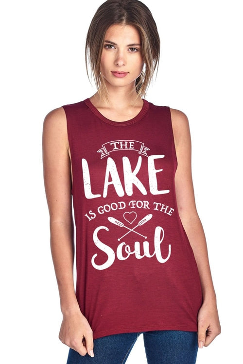The Lake Is Good For The Soul Muscle Tank Top