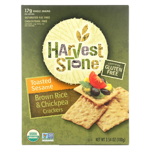 Harvest Stone Harvest Stone Organic Crackers - Rice And Chickpea - Case Of 6 - 3.54 Oz.