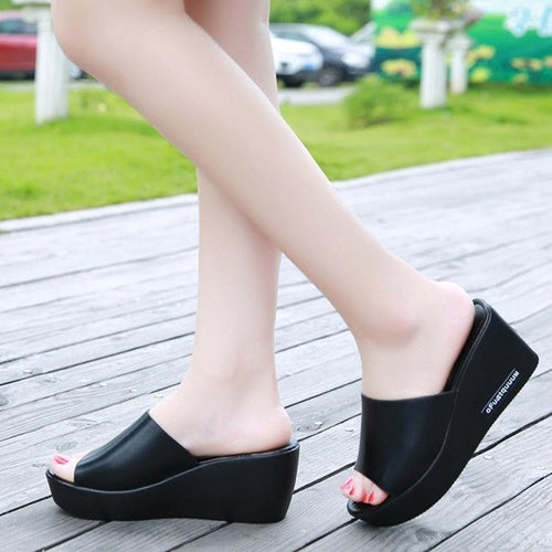 Summer Beach Sandals High Heel Shoes Casual Women