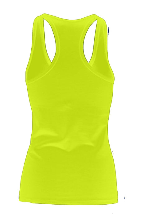 Women's Squeeze a Boob Save s LiF TANK TOP LIME
