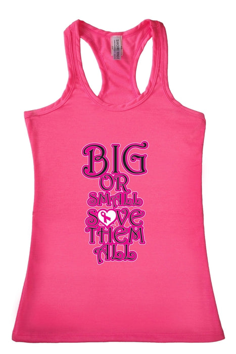Women's Tank Top Breast Cancer Awareness Big or