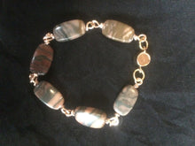 Load image into Gallery viewer, Plated Copper Wire Wrapped Agate Bead Bracelet