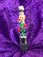 Load image into Gallery viewer, Bright Ladybugs Stainless Steel Bottlestopper