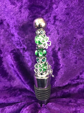 Load image into Gallery viewer, Spring Shamrocks Stainless Steel Bottlestopper