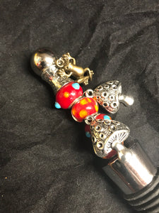 Wonderland Toadstools Stainless Steel Bottlestopper