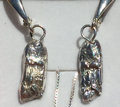 Forest Wizard (Old Man of the Forest) Fine Silver Leverback Earrings