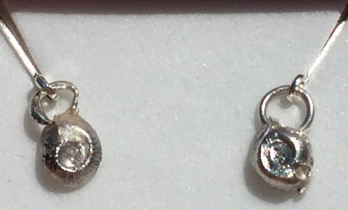 Florida Scrubsnail Fine Silver Leverback Earrings