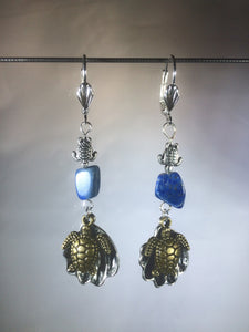 Sea Turtles and Lapis Earrings