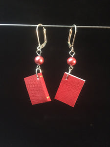 These leverback earrings are made from minature books.  Yes you can write in them!  So take care of them as they are paper.  The cover can be scribed with upto 10 characters.