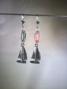 Port and Starboard Brass Leverback Earrings