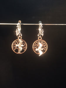 Birds Flying Around in a Tree Earrings