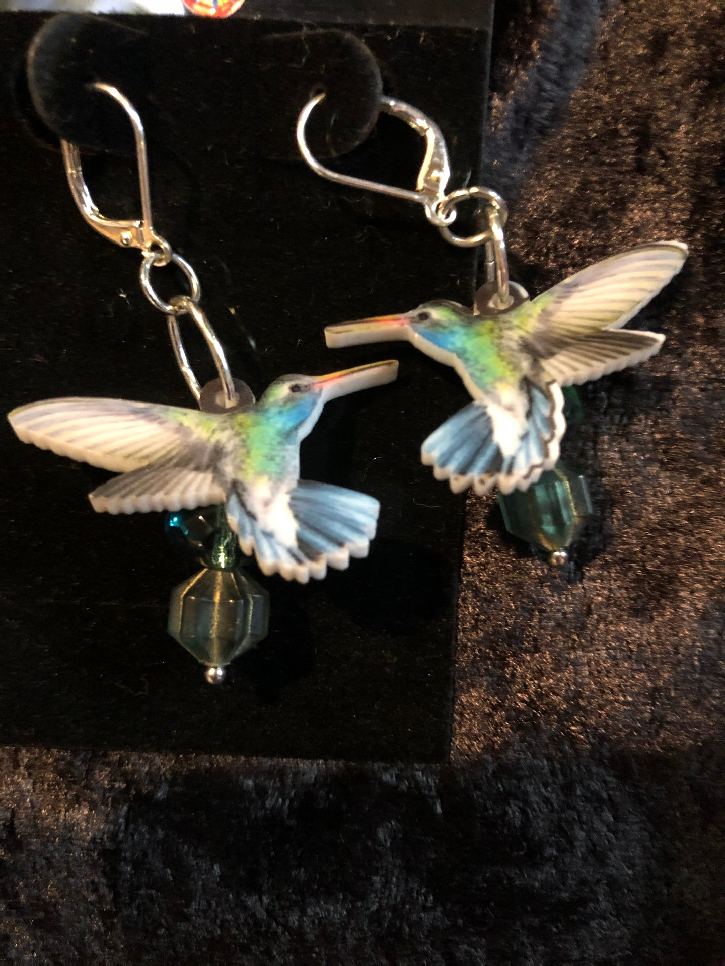 Lucite Hummingbirds Earrings