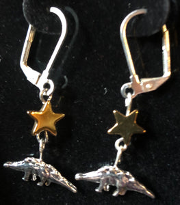 Stegosaur and Asteroid Earrings