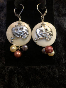 Camper with Pearls III Earrings