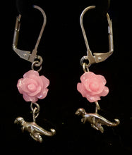 Load image into Gallery viewer, Therapods and Roses Earrings