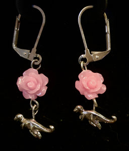 Therapods and Roses Earrings