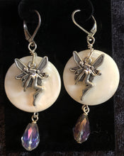 Load image into Gallery viewer, Faerie on Paua Shell Earrings