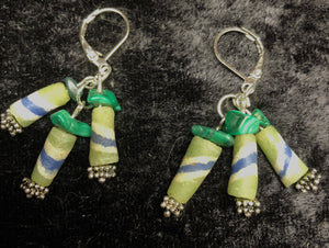 Malachite Swirl Drop Earrings