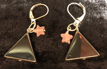 Load image into Gallery viewer, Hematite Triangle Drop Earrings