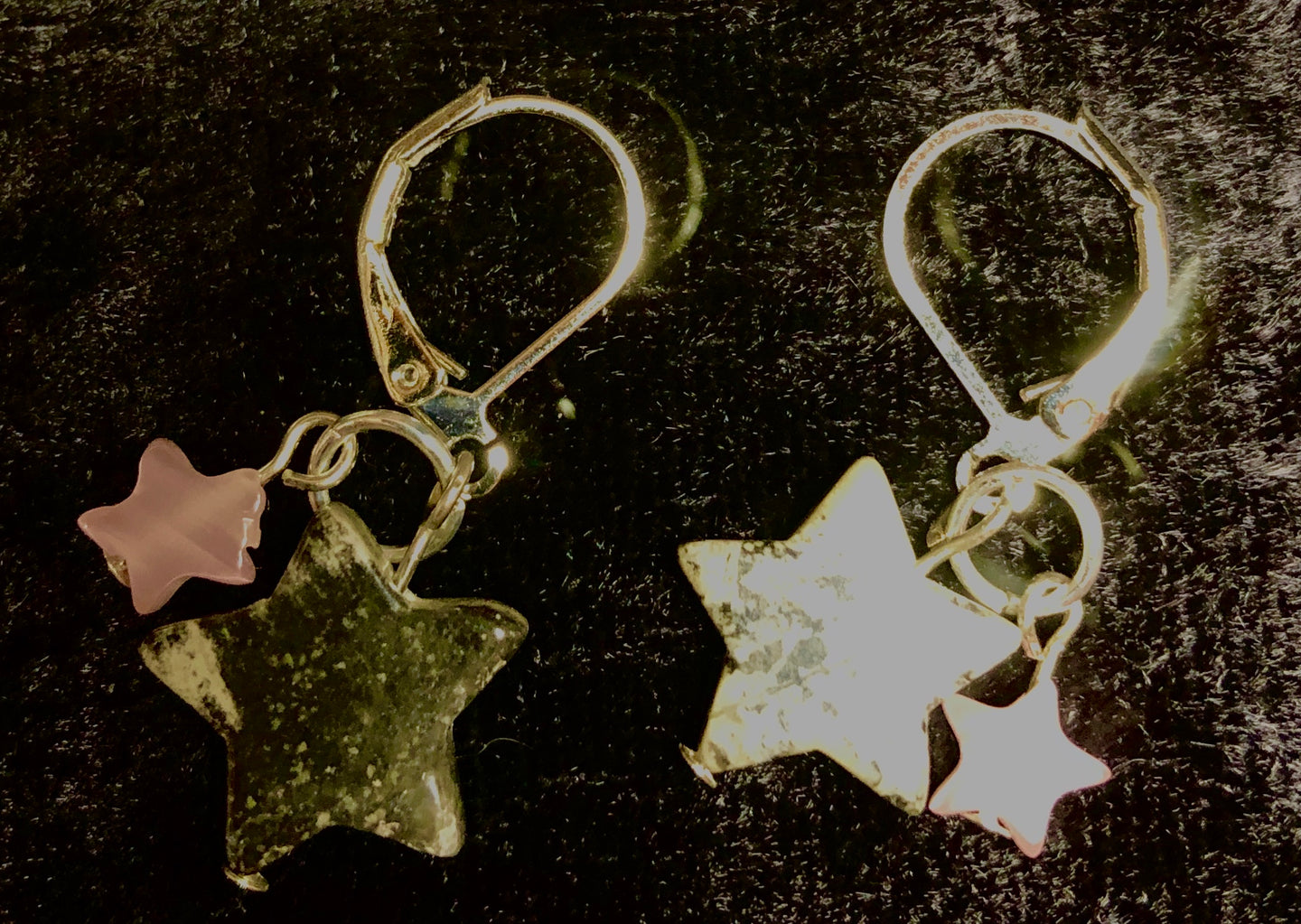 Agate Stars Drop Earrings