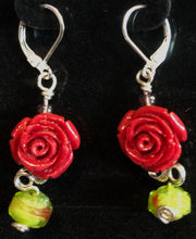Load image into Gallery viewer, Stone Roses in the Garden Earrings