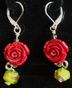 Stone Roses in the Garden Earrings