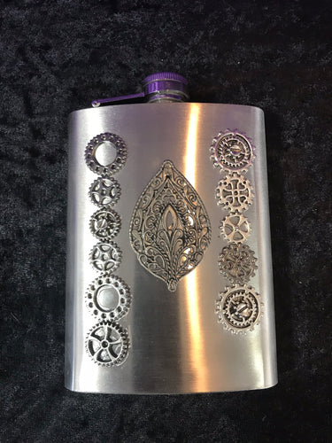 Stainless Steel Steampunk Flask