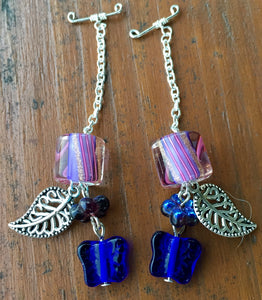 Blue Butterfly and Leaves Gauge Drops