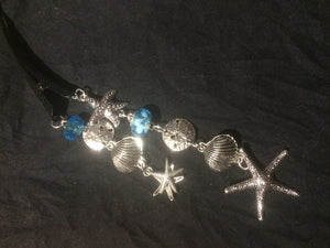 Starfish, Sanddollars, and Shells Dangly Steel Hair Clip
