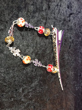 Load image into Gallery viewer, Glass Bead and Autumn Leaves Dangly Jumbo Steel Hair Clip