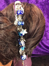 Load image into Gallery viewer, Starry Night Dangly Jumbo Steel Hair Clip