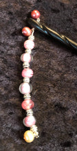 Load image into Gallery viewer, Pink Pearls Black Spiral Bone Hairstick