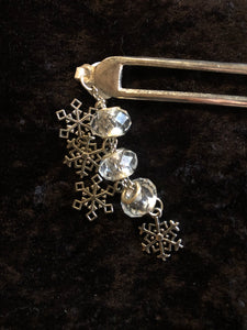 Icy Snowflakes Pewter Hair Fork