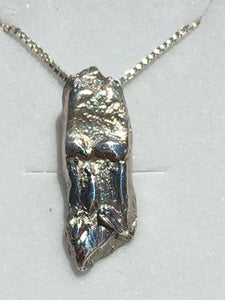 Forest Wizard (Old Man of the Forest) Fine Silver Pendant