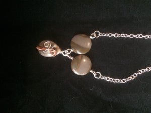 Copper Sprout Wire Wrapped Agate Necklace