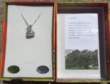 "Load image into Gallery viewer, A live oak acorn cap is molded from life out of fine silver, then set on an 18"" sterling chain in this necklace, which is part of the ""Naturally Coastal"" series depicting the flora, fauna, and cultural icons of the US Atlantic coastal ecosystems."